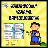 Summer Word Problems (Math Task Cards)