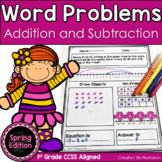 Spring Word Problems - Addition and Subtraction Worksheets