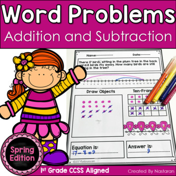 Word Problems 1st Grade In Spring Addition and Subtraction