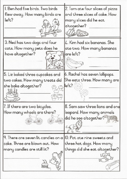 Word Problems 2 Grade 1
