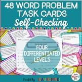 Multi-Step Word Problem Task Cards 4th Grade