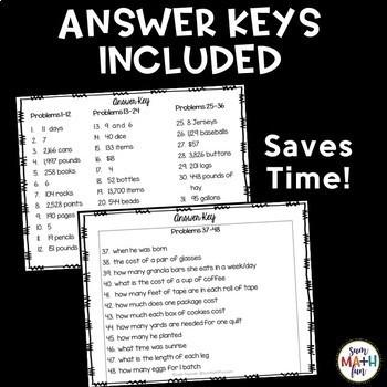 multi step word problem task cards 4th grade by leah popinski tpt. Black Bedroom Furniture Sets. Home Design Ideas