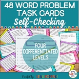 Multi-Step Word Problems - Task Cards 4th Grade