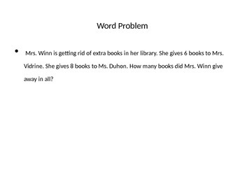 Word Problems