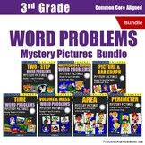 Mixed Word Problems 3rd Grade Morning Math Mystery Picture Worksheets