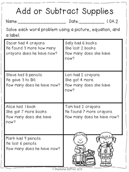 Word Problems - 24 Practice Pages