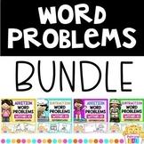 Kindergarten Word Problems Bundle Differentiated