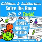 Word Problems - Facts to 20 - Solve the Room with a Twist