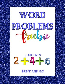 Word Problems 3 addends