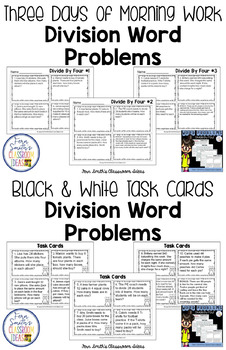 3rd Grade Go Math 7.5 Divide By Four Word Problems, Task Cards & Assessments