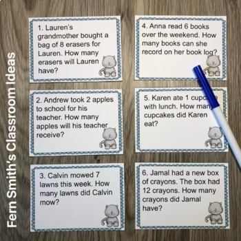 3rd Grade Go Math 6.9 Divide By One Word Problems, Task Cards & Assessments