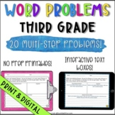 Word Problems 3rd Grade Multi-Step Common Core Aligned & D