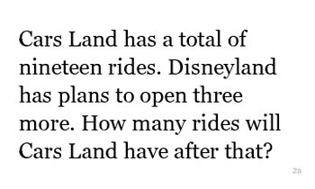 Word Problems 3x5 format Addition Subtraction Number Bonds Disney Themed