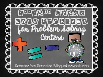 Word Problems 4th-5th grade Bilingual