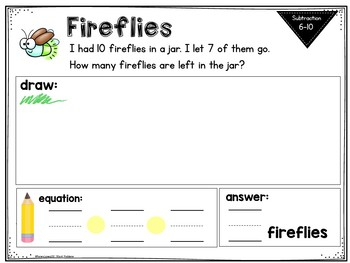 Word Problems: ADDITION and SUBTRACTION 6-10 Mini-Workbooks