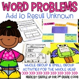 Word Problems: Add to Result Unknown