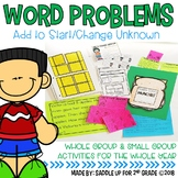 Word Problems: Add to Start and Change Unknown (Missing Addends)
