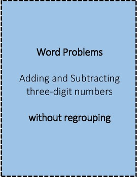 Adding and Subtracting No Regrouping
