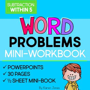 Word Problems: Subtraction within 5 Mini-Workbook
