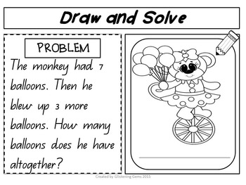 Addition Word Problems Circus Theme