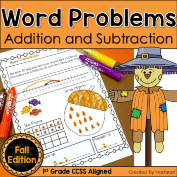 Word Problems 1st Grade In Fall Addition and Subtraction