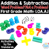 Word Problems Addition & Subtraction:  1.OA.A.1 Common Core First Grade Math