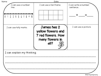 Word Problems (Addition & Subtraction) Common Core SET 2