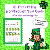 Word Problems (Addition Through 10) - St. Patrick's Day (Laddy Leprechaun)