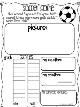 Word Problems-Addition and Subtraction Common Core K-2