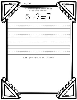 Word Problems Addition and Subtraction First Grade