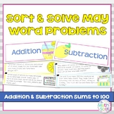 Addition and Subtraction Word Problem Sort: Lemonade Stand Sums to 100