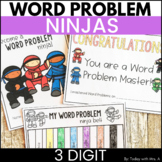 Distance Learning Addition and Subtraction Word Problems Three Digit Activities
