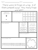 Word Problems - Addition and Subtraction within 20