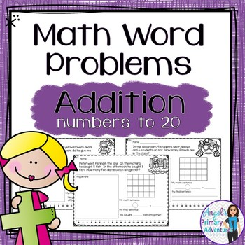 Word Problems:  Addition to 20