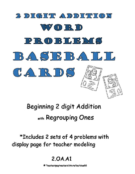 Word Problems: Addition with Regrouping Ones: with Place Value Charts