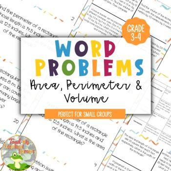 Word Problems: Area, Perimeter & Volume