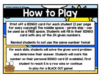 2.OA.1 - Word Problems BINGO and Exit Tickets