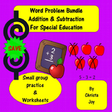 Word Problems BUNDLE for Special Education