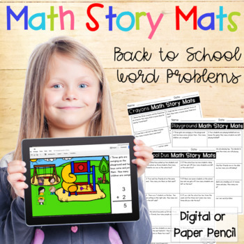 Word Problems - Back to School Story Mats
