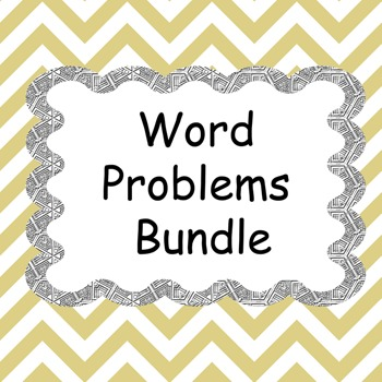 Word Problems Worksheets Bundle
