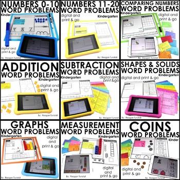 Word Problems Bundle Kindergarten