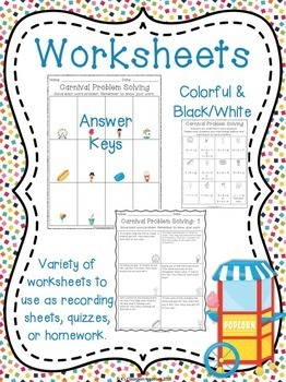 Carnival Addition and Subtraction Word Problems