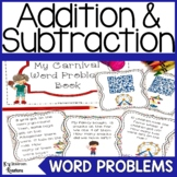 Addition and Subtraction Word Problems to 20 Carnival Theme