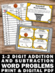 Addition and Subtraction Word Problems Task Cards 1st Grad