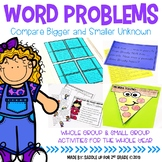 Word Problems: Compare Bigger Smaller Unknown