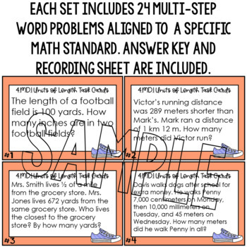 Math Word Problems Converting Customary & Metric Units of Length 4.MD.1 5.MD.1