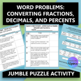 Fractions, Decimals, Percents Word Problems $100,000 Pyram