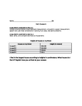 Word Problems Converting and Rounding Decimals