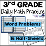 Word Problems Daily Math Review 3rd Grade Bell Ringers Warm Ups