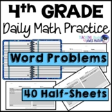 Word Problems Daily Math Review 4th Grade Bell Ringers Warm Ups